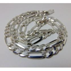 Srebrny łańcuszek splot figaro BM3