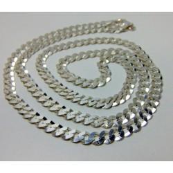 Łańcuszek srebrny pancerka BM10