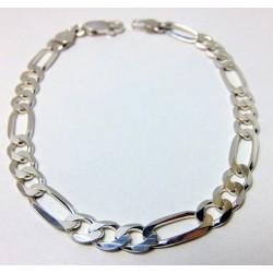 Bransoleta srebrna figaro BM14