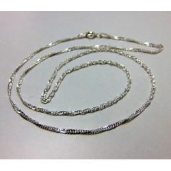 Łańcuszek srebrny kręcony 45cm LS3
