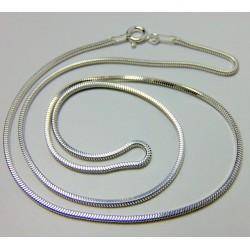 Długi łańcuszek srebrny snake 60cm LS8