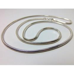 Gruby łańcuszek srebrny damski 70cm