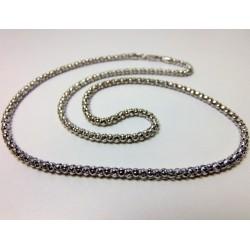 Oksydowany łańcuszek srebrny 55cm LS11
