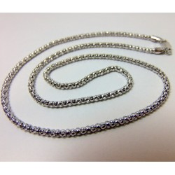 Łańcuszek oksydowany przyciemniony 50cm LS13