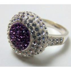 Srebrny pierścionek fiolet PROMOCJA P12