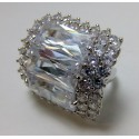Srebrny pierścionek z cyrkoniami P16