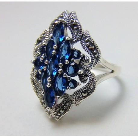 Piękny pierścionek w stylu wiktoriańskim P23