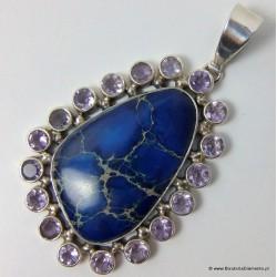 Wisiorek z niebieskim jaspisem Z41
