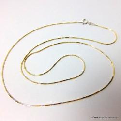 Nowość. Łańcuszek pozłacany ze srebra pr. 925