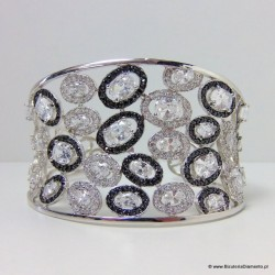 Rezerwacja - Bransoleta srebrna z markazytami i cyrkoniami B45