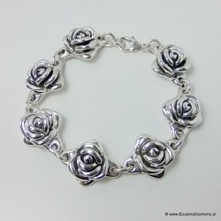 Bransoleta róże - 7 elementów róży