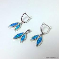 Podwójne łezki - biżuteria srebrna KO169