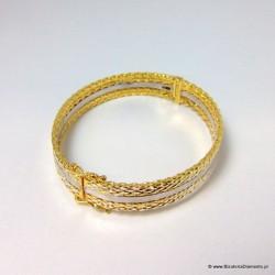 Bransoletka ze złoconego srebra B61