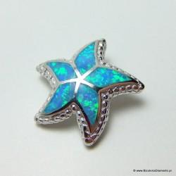 Wisiorek srebrny z opalem rozgwiazda KO231