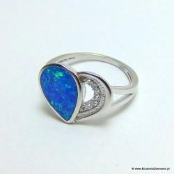 Srebrny pierścionek serce KO252