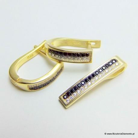 Biżuteria pozłacana komplet KY87