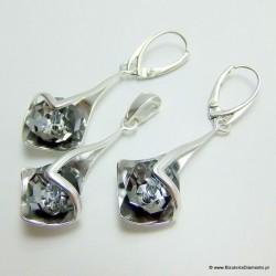 Komplet biżuterii srebrnej KY93