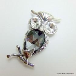 Srebrny wisior w kształcie sowy Z86