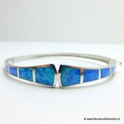 Bransoleta z niebieskim opalem KO262