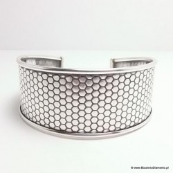 Bransoleta srebrna pr. 925 B86 , szeroka (2.8cm)