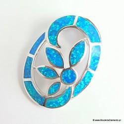 Dużycdamski wisior z niebieskim kamieniem