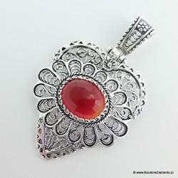 Wisiorek na styl dawnej, starej biżuterii srebro oksydowane