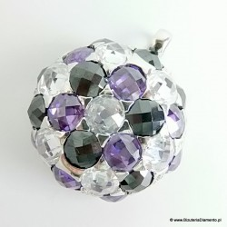 Elegancki okrągły wisiorek srebrny