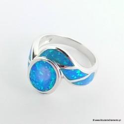 Srebrny pierścionek z opalem PO2