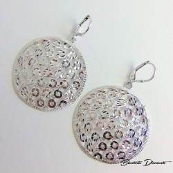 Okrągłe kolczyki srebrne duży rozmiar