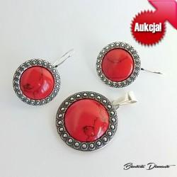 Aukcja! Komplet biżuterii z koralem