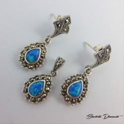 Biżuteria z markazytami i opalami K340
