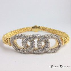 Elegancka bransoletka damska - srebro 925 złocone