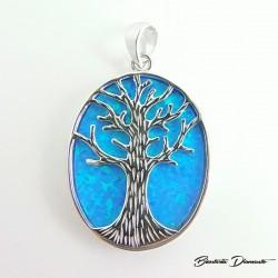 Drzewko szczęścia wisiorek z opalem