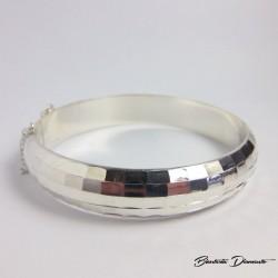 Szeroka bransoleta srebrna sztywna