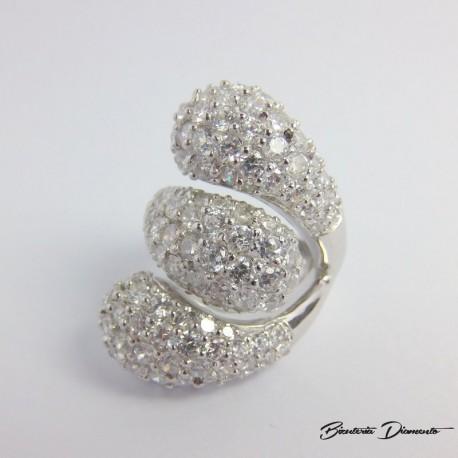 Srebrny pierścionek z cyrkoniami P59