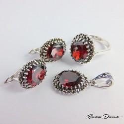 Komplet biżuterii z markazytami