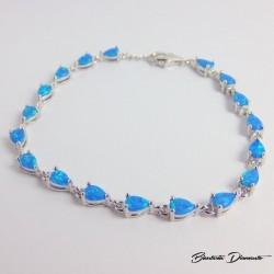 Srebrna bransoletka z opalem