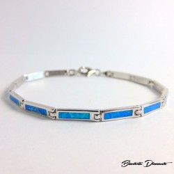 Bransoletka z niebieskimi opalami KO316