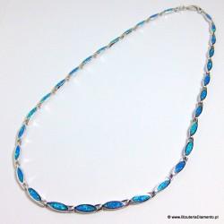 Naszyjnik KO286 z niebieskim opalem