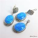 Owalny komplet biżuterii z opalami