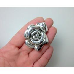 Broszka róża srebrna BR1