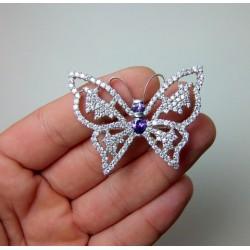 Broszka srebrna motyl BR5