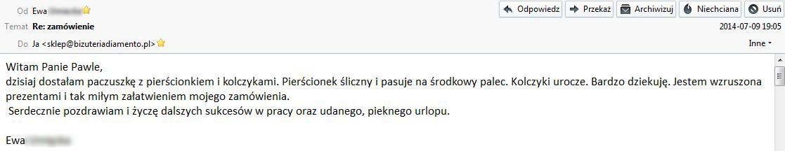 Opinie www.bizuteriadiamento.pl