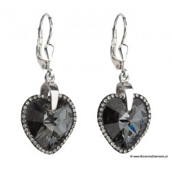 Kolczyki Swarovski elements - Silver Night